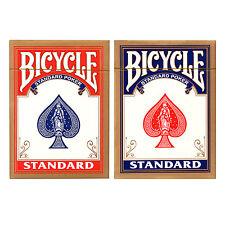 1x Bicicletta Standard Rider Indietro Poker Casinò Carte Da Gioco Colore Casuale