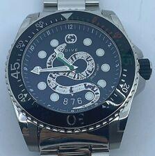 GUCCI Dive Quartz Black Dial Men's Watch YA136218
