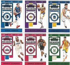 2019-20 PANINI CONTENDERS BASKETBALL - SEASON TICKET CARDS #1-100 - YOU PICK!