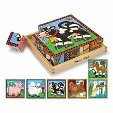 Farm Cube 6 Puzzles in 1 - Ages 3+ by Melissa & Doug® - NEW w/ FREE US Shipping!