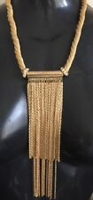Celeb Statement Gold Twisted Multi Chain Necklace By Rocks Boutique