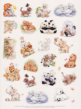 Huge Current Cute Morehead Animals Sticker Sheet Baby Unicorn Panda Lion Tiger