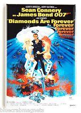 Diamonds Are Forever FRIDGE MAGNET (2 x 3 inches) movie poster james bond