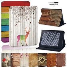 Estuche con Funda y base de cuero de Madera para Amazon Kindle 8/10th Paperwhite 1/2/3/4