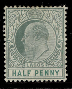 NIGERIA - Lagos SG54a, ½d dull green and green, LH MINT. Cat £13. CHALKY