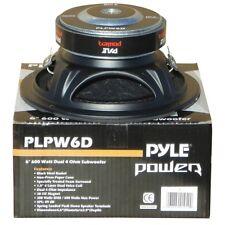 "SUBWOOFER PYLE PLPW6D NERO 300 WATT RMS 6,5"" 165 MM DVC 4 + 4 OHM SPORTELLI AUTO"