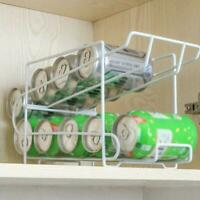 Fridge Storage Rack Beer Iron Rack Soda Can Coke Holder Organizer Hot Shelf T1Y5