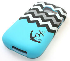for Samsung Galaxy Discover Centura R740 Blue Grey Black Chevron Hard Case Cover