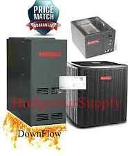 2.5 Ton Goodman 13 seer 80% 40K btu 2stage Downflow Gas Furnace System+Tstat