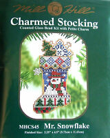 Mill Hill Cross Stitch Bead Kit Christmas 'Mr Snowflake' Stocking CS45