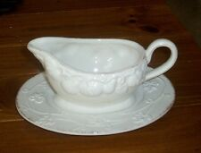 Mikasa Countryside Harvest Collection Gravy Boat/Stand NIB