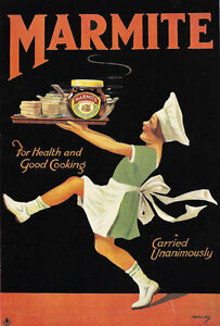AD64 Vintage Marmite Classic Advertisment Advertising Poster A4 Re-print