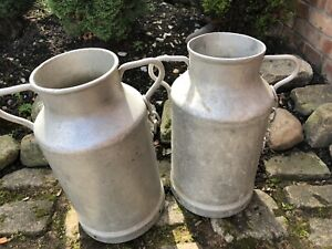 Pair of Vintage French Milk churns.