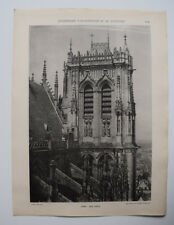 CLOCHER Amiens Cathedrale ARCHITECTURE Sculpture Photo 1910