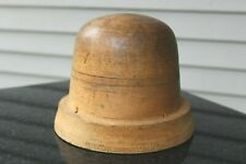 Vtg Millinery Wood Block Hat Form Wooden Industrial Utility Mold fun for display
