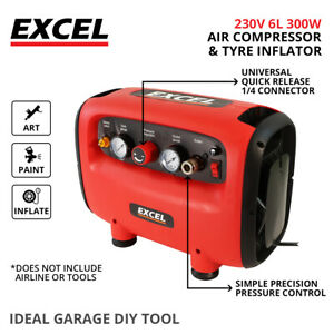 Air Compressor 6L Oil Free Small Compact Portable Air Line Compressor 145PSI