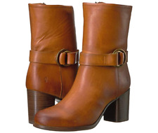 New in Box FRYE Women's Addie Harness Mid Boots Brown Size 10 MSRP $ 398