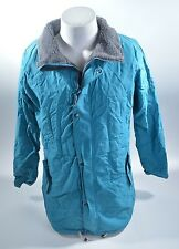 2012 WOMENS BONFIRE SNOWBOARD JACKET $200 XL aqua blue  grey USED coat