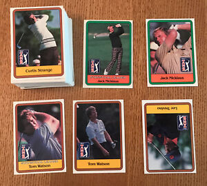 1981 Donruss Golf Complete 66 Card Set with Jack Nicklaus Rookie Card
