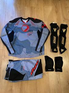 Dye C14 Blue Paintball Jersey Top, Trousers Pants Size XL & RDX Arm & Knee Pads
