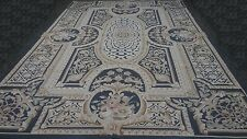 Magnificent Louvre Handmade Cross-Stitched Wool Needle Point rug 6x9