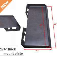 """1/4"""" Quick Tach Attachment Mount Plate Heavy Duty Loader Trailer Hitch Skidsteer"""