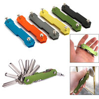 Handy Aluminum Key Holder Organizer Clip Folder Keychain Pocket Tool Portable