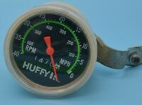Vintage Huffy Bicycle 40 MPH Speedometer Tachometer w Mounting Bracket Japan