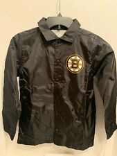 NHL Boston Bruins windbreaker jacket mesh lining stitched lettering KIDS S-8
