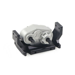 Metal Transfer Case Gearbox &Mount Plate for 1/10 RC Crawler Car SCX10 RC4WD D90