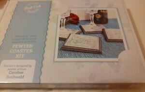 Peak Dale Metal Embossing Kit makes 4 Pewter coasters arts & crafts gift NEW BOX