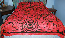 New Tie Dye Greenman Double Bedspread Throw - Hippy Fair Trade Wicca Pagan