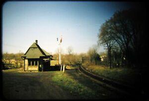 Original Railroad Slide OSLD NYC Putnam Divn Station Baldwin Place NY 4/58 RBK