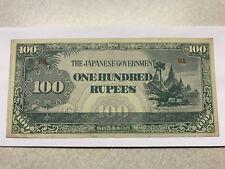 The Giapponese Governo / Burma/Myanmar 100 Rupie Au #9349