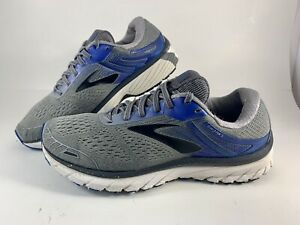 Brooks Adrenaline GTS 18 Mens Size 8.5 Running Shoes Gray / Blue