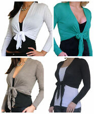 V Neck Thin Knit Wrap Tops for Women