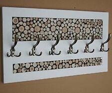 KOMA Garderobenleiste Landhausstill mit 6 Kleiderhaken 70 x 40cm