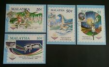 Malaysia SEA Games XV Kuala Lumpur 1989 Sport Swimming Cycling (maxicard) *Rare