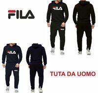 tuta uomo Completo Felpa Pantaloni tuta Blu /Nera Personalizzata con Logo
