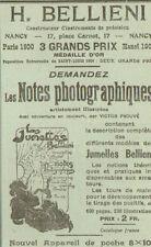 NANCY JUMELLES BELLIENI PUBLICITE 1905
