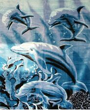 Brand New Dolphins print Twin size Luxury blanket