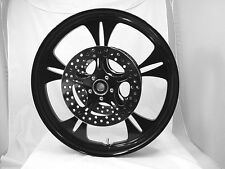18 x 3.50 HARLEY DAVIDSON ROAD GLIDE GLOSS BLACK REAPER WHEEL With ABS & ROTORS