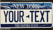 NEW YORK STYLE  LICENSE PLATE, PERSONALIZED,  Made in USA