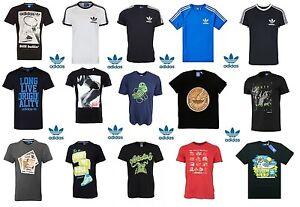 Adidas Originals Mens Casual Black Grey White Navy T-Shirts All Sizes