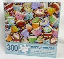 "Teacups Tea Cups Collage 300 Pce Puzzle 24"" x 18"" Finished Helz Cuppleditch"