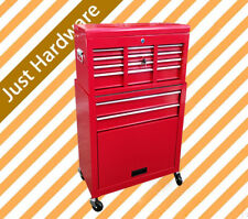 8 Drawer Metal Tool Box Cabinet Chest Storage Toolbox Garage Red Organiser Set