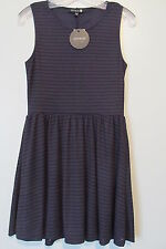 Cotton On NWT  Purple/Black Striped Sleeveless Stretch Above Knee Dress SIZE:S