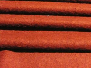 SOFT PILE WOOL BLEND POODLE FLEECE-RUST-COATING FABRIC -FREE P+P