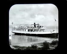 Magic Lantern Slide Steamer Zillah Yellowstone Lake Dot Island E. C. Waters 1895