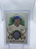 2017 Topps Allen And Ginter Anthony Rizzo Game Used Jersey Relic Chicago Cubs